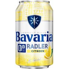 Bavaria Radler Lemon 0.0 Bier Blikjes Tray 4x6x33cl