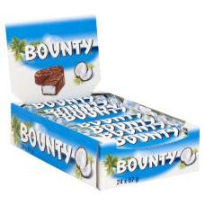 Bounty Melk Chocolade Repen 57 Gram Doos 24 Stuks