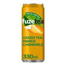 Fuze Tea Mango Chamomile Ice Tea Blikjes, Tray 24x25cl