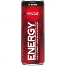 Coca Cola Energy Zero  Drink Blikjes Tray 12x25cl