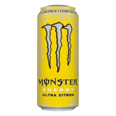 Monster Ultra Citron Zero (Geel) Energy Drink Blikjes, Tray 12x50cl