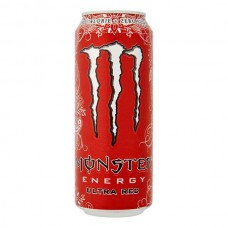 Monster Ultra Red Zero Energy Drink Blikjes, Tray 12x50cl
