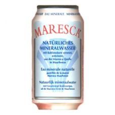 Maresca Mineraalwater Rood Blikjes, 24x33cl