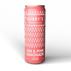 Bobby's Gin & Pink Lemonade Premix Blikjes 25cl tray 12 Stuks