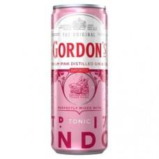 Gordon's Premium Pink Gin Tonic Blikjes, Tray 12x25cl