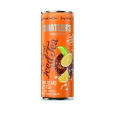 Shatlers Long Island Iced Tea Cocktail Premix Blikjes 25cl Tray 12 Stuks