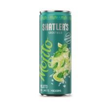 Shatlers Mojito Cocktail Premix Blikjes 25cl Tray 12 Stuks