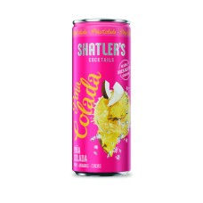 Shatlers Pina Colada Cocktail Premix Blikjes 25cl Tray 12 Stuks
