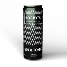 Bobby's Gin & Tonic Premix Blikjes 25cl tray 12 Stuks