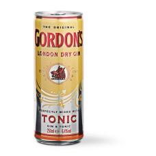Gordon's Gin met Tonic Blikjes 25cl Tray 12 Stuks