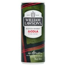 William Lawson's & Cola Premix Blikjes 12x25cl