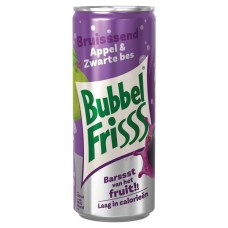 Bubbel Friss Appel & Zwarte Bes Blikjes 25cl Tray 12 Stuks