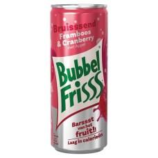 Bubbel Friss Framboos Cranberry Blikjes 25cl Tray 24 Stuks