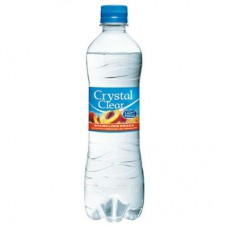 Crystal Clear Peach Pet Fles, Tray 6x50cl