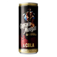 Captain Morgan Spiced Rum Met Cola Premix Blik 12x25cl